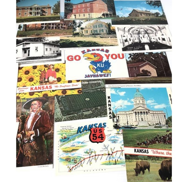 KANSAS History Postcard Pack Lot of 18 Postcards